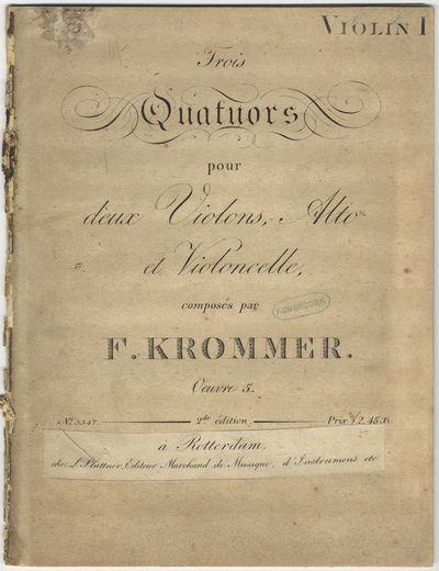 Offenbach s/M: J. André , 1810. Folio. Disbound. Violino primo: (title), 2-12, (blank) 14-15, (blan...