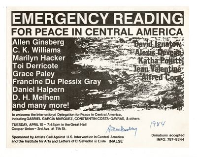 Emergency reading for peace in...