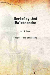 Berkeley And Malebranche 1934 [Hardcover]