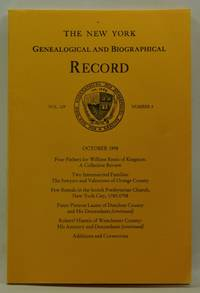image of The New York Genealogical and Biographical Record, Volume 129, Number 4 (October 1998)