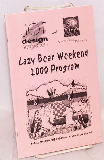 San Francisco: JOT Design Services & Castrobear, 2000. 48p., includes covers, 5.5x8.5 inches, event ...