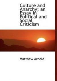 image of Culture and Anarchy; an Essay in Political and Social Criticism