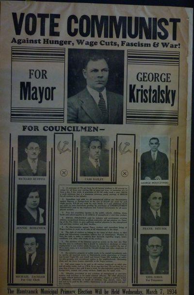 Hamtramck: . 1934. Poster. Poster on newsprint, 14 x 22