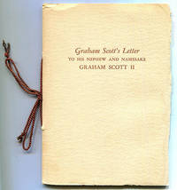 Graham Scott's Letter to His Nephew and Namesake Graham Scott II