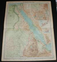 """image of Map of """"Egypt and the Nile"""" and the Red Sea from the 1920 Times Survey Atlas (Plate 78)"""