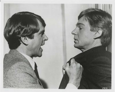 N.p.: Embassy Pictures, 1983. Vintage studio still photograph of Sam Neill and Derek Jacobi from the...