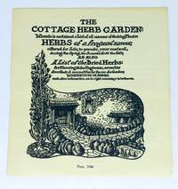 [CORRESPONDENCE] [HERBS] [WASHINGTON D.C.] The Cottage Herb Garden