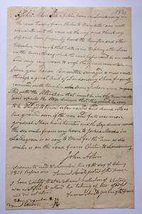 Autographed Document Signed.; (Vermont) A Proposed Road from Charter to Manchester
