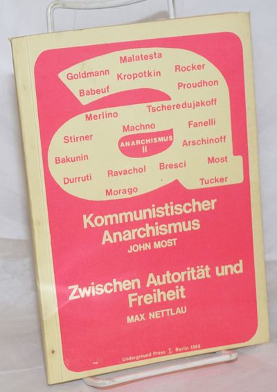 Berlin: Underground Press, 1968. Paperback. 34p., wraps, 5.75x8 inches, wraps lightly worn, pages ev...