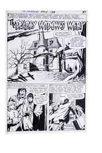 "image of The Unexpected Vol 1 129, page 37 Splash Page ""The Deadly Widow's Web"""