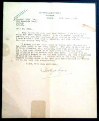 Typed Letter Signed about LORD PETER WIMSEY, Detective