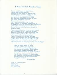 2 Poems for Black Relocation Centers