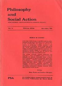 Philosophy and Social Action (Vol. 14, Special Issue, April-June 1988) by  Thomas W.; Brian Martin and Evelleen Richards (eds) Simon - Paperback - Signed First Edition - 1988 - from Round Table Books, LLC (SKU: 7157)