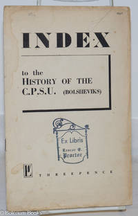 image of Index to the History of the CPSU (Bolsheviks)