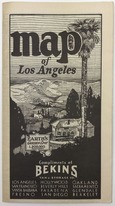 Los Angeles, 1935. Very good plus.. Folding map, approximately 18 x 20 inches. Minimal wear at folds...