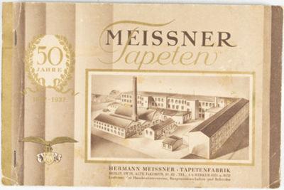 Berlin: H. Meissner Tapetenfabrik, 1929. Softcover. g. 8vo. Oblong. Unpaginated. Original illustrate...