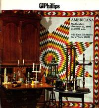 Americana, Including an Important Collection of Early American Lighting Devices, Property of Dr. and Mrs. Louis R. Wasserman, Connecticut, January 30, 1980 (Sale 264) by _________________ - Paperback - 1st  - 1979 - from Newbury Books (SKU: 29230)