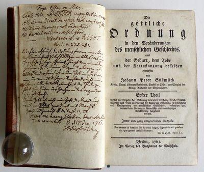 Die goettliche Ordnung - Inscribed by...