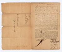 Declaration Signer T. McKean and Constitution Signer J. Ingersoll Rare Broadside,