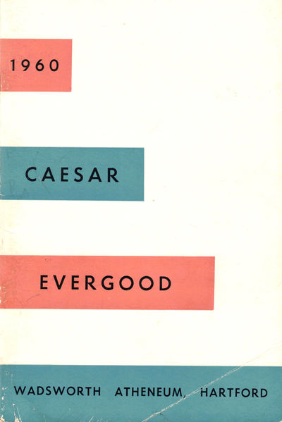 Hartford: Wadsworth Atheneum, 1960. Paperback. Very good. 36pp. Slightly tanned and rubbed overall, ...
