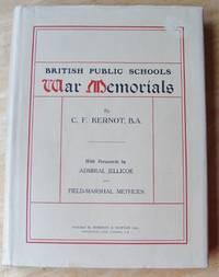 BRITISH PUBLIC SCHOOLS WAR MEMORIALS