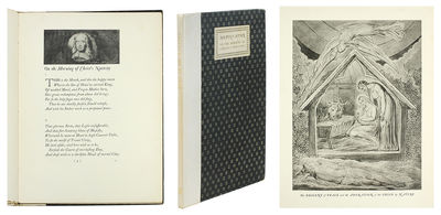 4to. Cambridge: University Press, 1923. 4to, 32 (2) pp.with 6 plates of Blake's designs in black and...