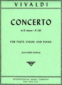 Concerto in D Minor, P.281 - for Flute, Violin, and Piano  [PIANO FULL SCORE & TWO PARTS]