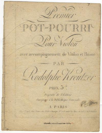 Paris: Pleyel , 1800. Folio. Disbound. Violino primo: 1f. (title), (blank), 2-5, (blank) pp.; Violin...
