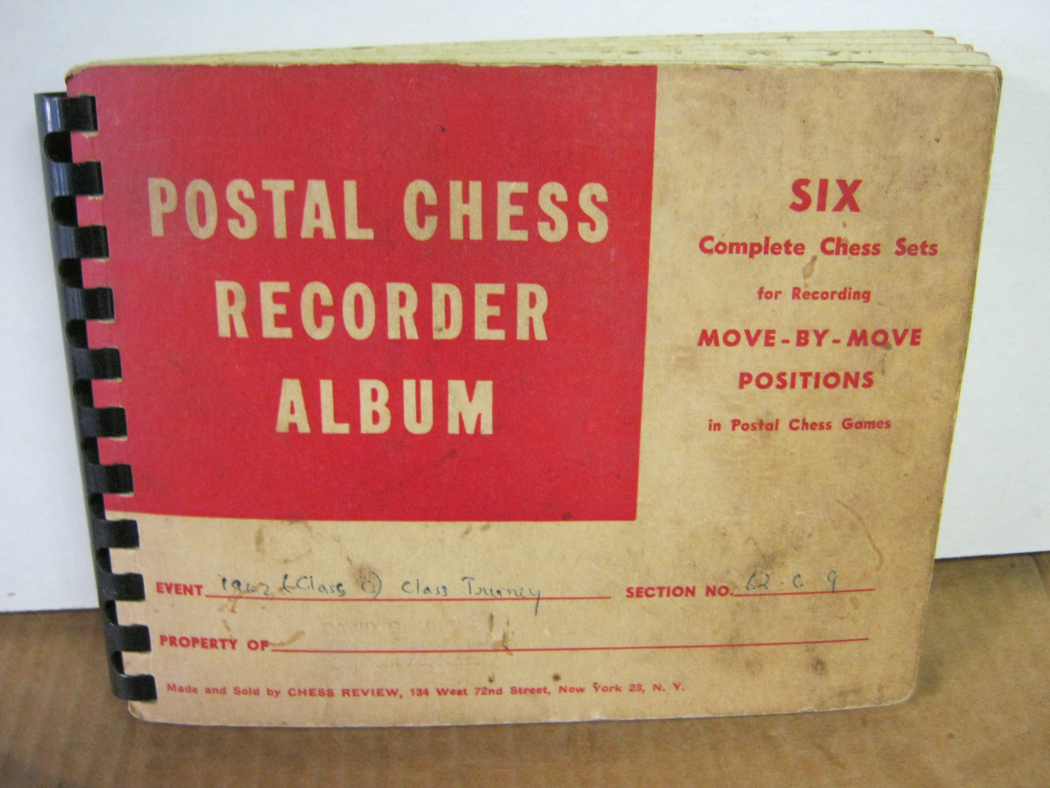 Postal Chess Recorder Album Six Complete Chess Sets For