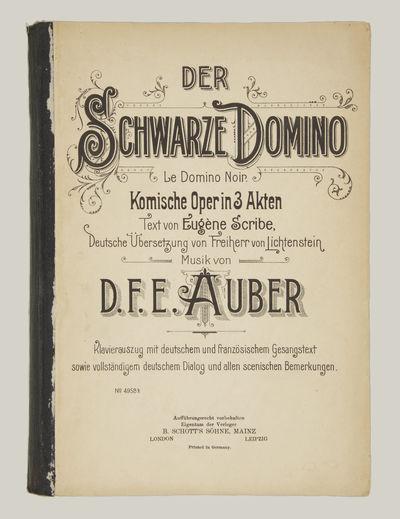 Mainz: B. Schott's Söhne , 1890. Large octavo. 1f. (recto decorative title, verso blank), 1f. (rect...