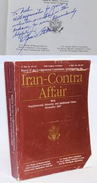 image of Report of the congressional committees investigating the Iran-contra affair with supplemental, minority, and additional views November 1987