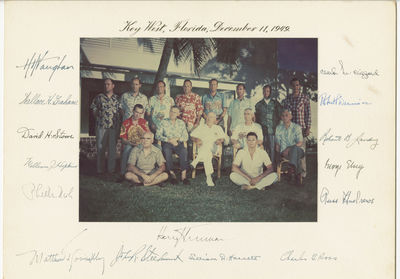 Truman Harry President Truman Poses With His White House Staff During a 1952 Retreat to the