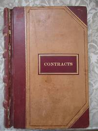 JOURNAL OF RAILROAD CONTRACTS 1902-1905. New York Central and Hudson River Railroad Company /...