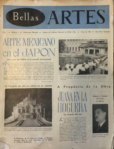 México: Secretaria de Educación Publica; Instituto Nacional de Bellas Artes, Febr 1956. (Some chip...