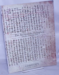 The Archimedes Palimpsest. Property from A French Private Collection. Auction Thursday 29 October 1998