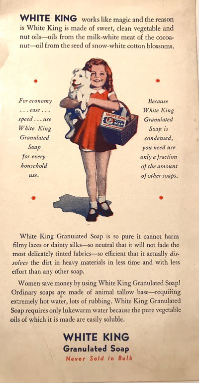 Los Angeles, CA: White King Soap Co., 1931. Staplebound wraps. Illustrated wraps. Very good. 10 page...