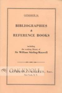 BIBLIOGRAPHIES AND REFERENCE BOOKS