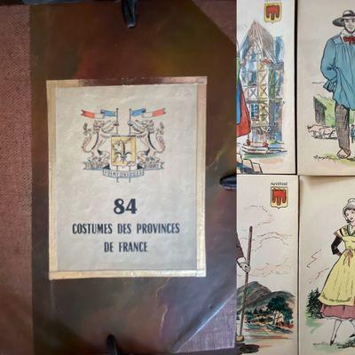 Vichy, France: Société des Cartes Folkloriques de France, 1950. 1/2 cloth. Fine. 6 1/8' x 4 1/8'...