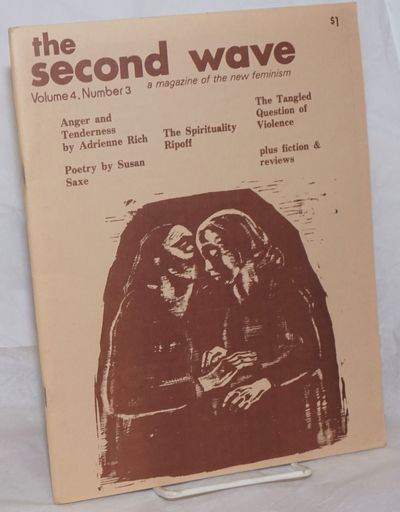 Cambridge: Second Wave, 1976. Magazine. 52p., 8.5x11 inches, illustrations, articles, stapled brown ...