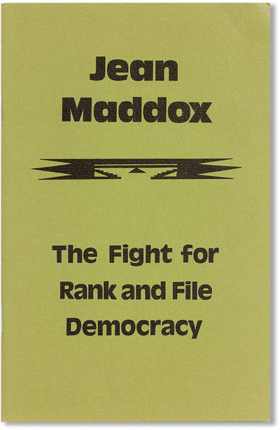 San Francisco: Union WAGE Educational Committee, 1976. First Edition. Octavo. Staple-bound card wrap...