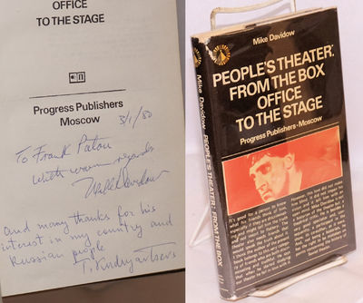Moscow: Progress Publishers, 1977. 248p., preface, photos, very good first edition in dj. Inscribed ...