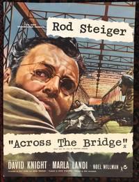 ACROSS THE BRIDGE. Rod Steiger.  (Original Vintage Movie Poster)