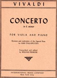 Concerto in E Minor - for Viola and Piano  [PIANO FULL SCORE & VIOLA PART]