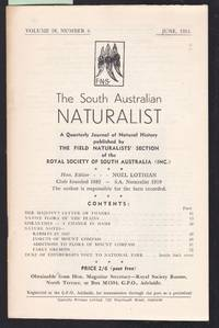 image of The South Australian Naturalist Vol.28 No.4 June 1954