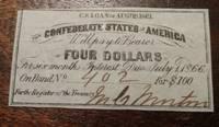1866 Confederate Civil War Bond Coupon