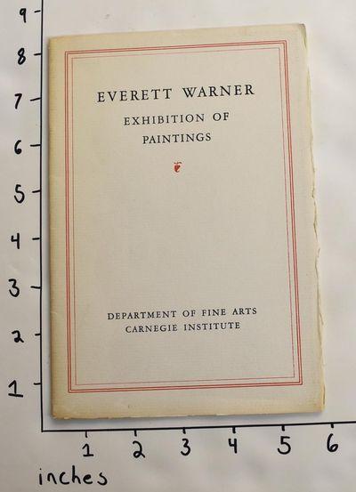 Pittsburgh, Pennsylvania: Carnegie Institute Department of Fine Arts, 1941. Paperback. VG-. Shelf we...