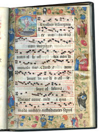 Processional (Dominican Use); illuminated manuscript on parchment in Latin and French with 12 historiated initials and 2 full-page illuminated borders by an artist working in the circle of the Mast of Girard Acarie