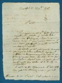 [Two Autograph Letters Signed to Vice-Admiral Le Blanc and Admiral Guy-Victor Duperre discussing Colomb's Desire to be Sent to Serve France in the Marquesas Islands].