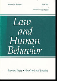 Law and Human Behavior  (Volume 21, Number 3, June 1997)