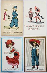 Collection of 4 original Suffrage Postcards, c. 1900s-1910s